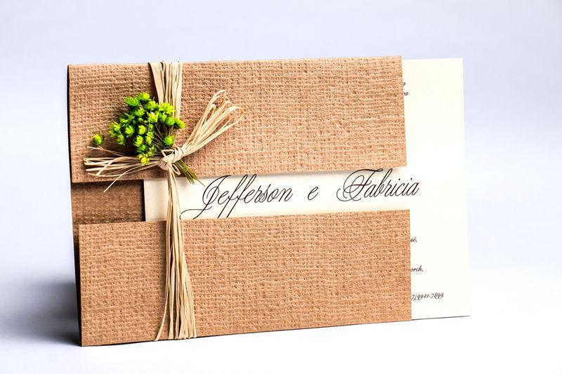 Convite Fabricia e Jefferson