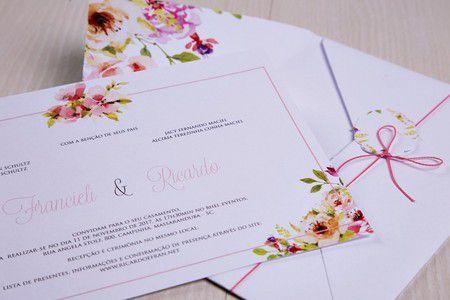 Convite Francieli e Ricardo