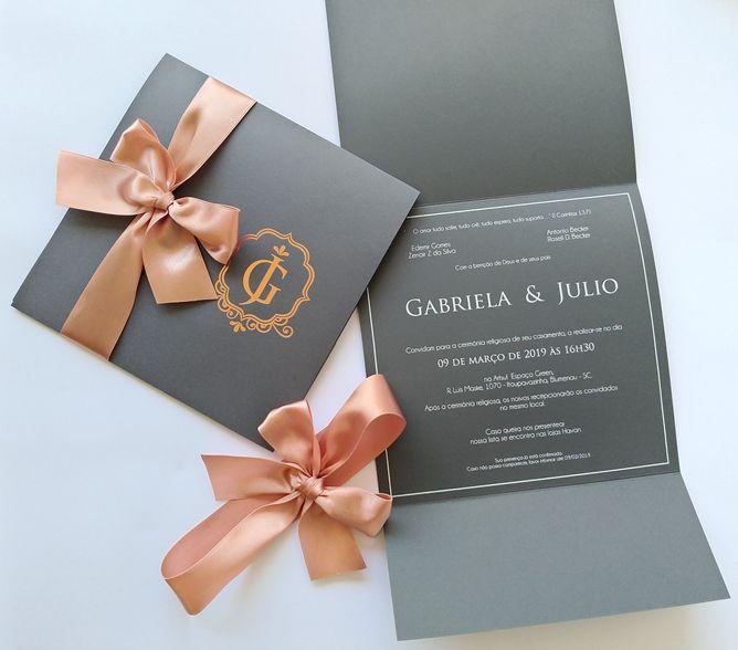 Convite Gabriela e Julio