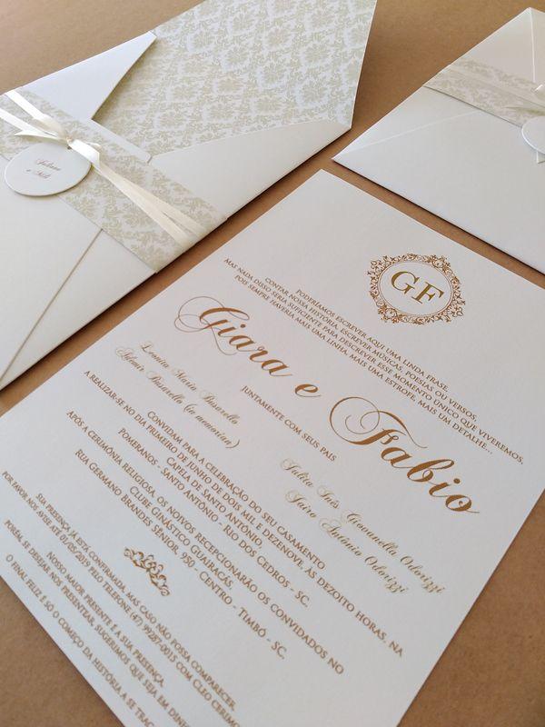 Convite Giara e Fabio
