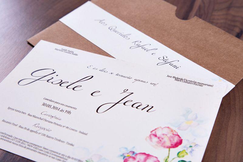 Convite Gisele e Jean