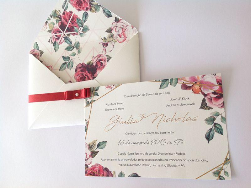 Convite Giulia e Nicholas