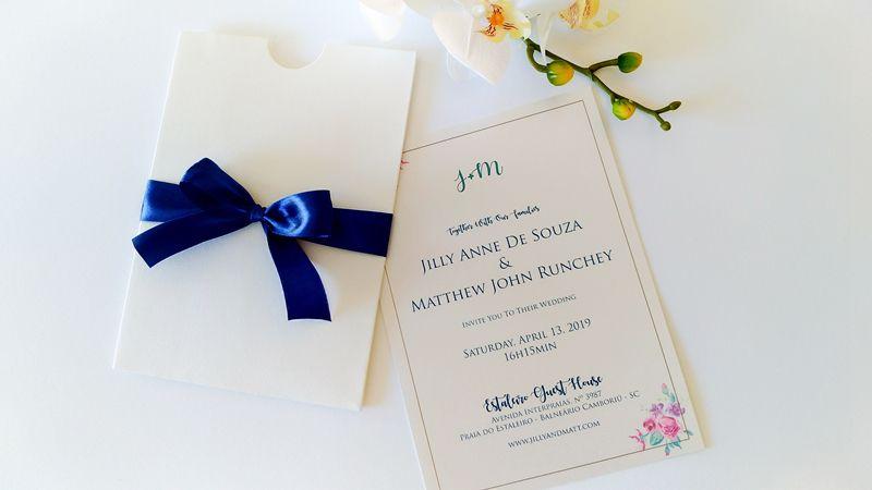 Convite Jilly e Matthew