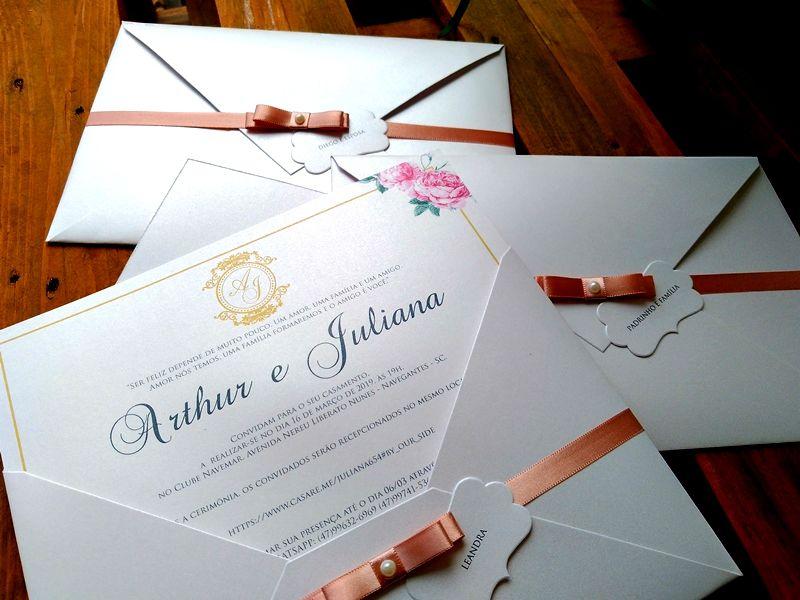 Convite Juliana e Arthur