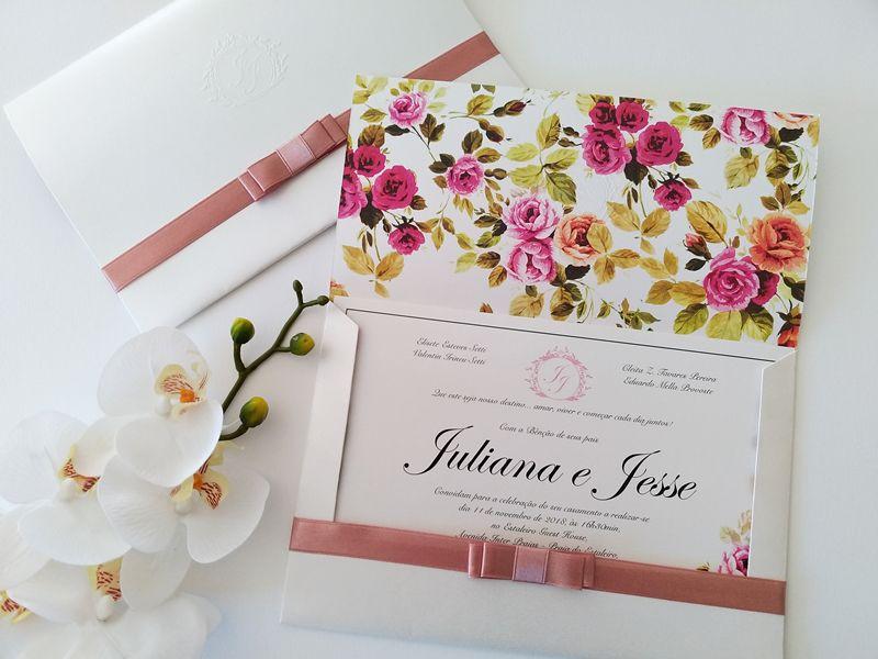 Convite Juliana e Jesse