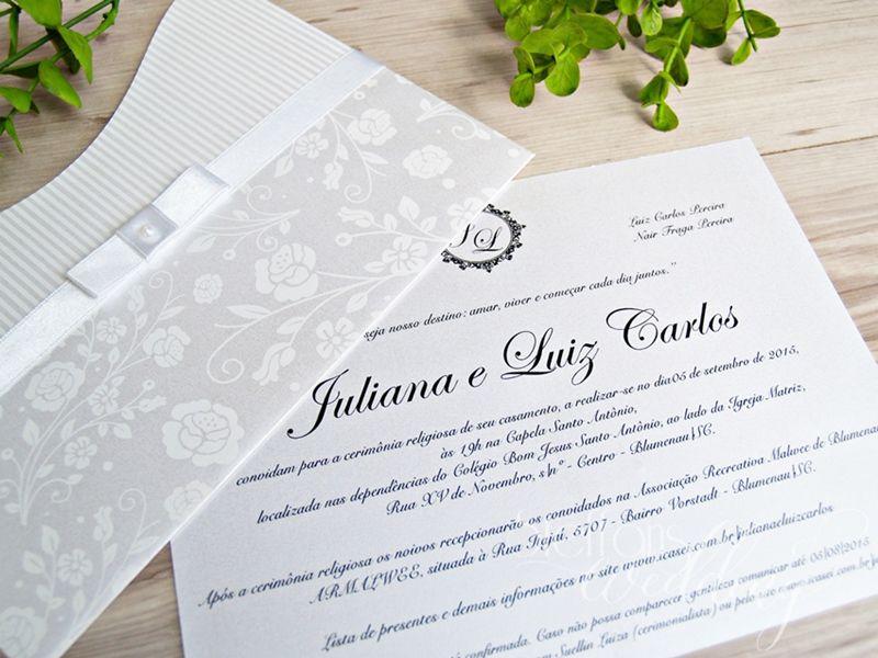 Convite Juliana e Luiz Carlos