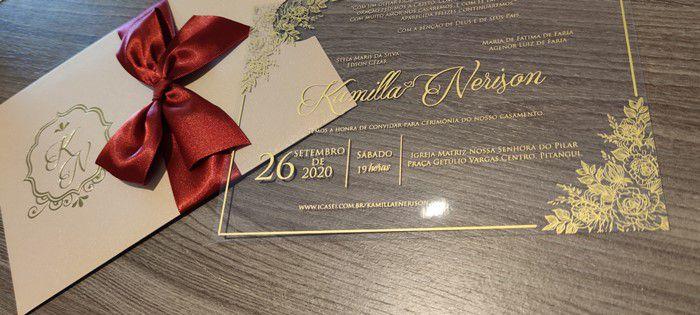 Convite Kamila e Nerison