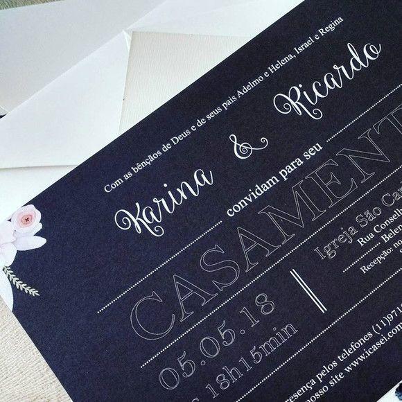 Convite Karina e Ricardo