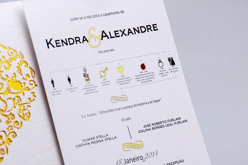 Convite Kendra e Alexandre