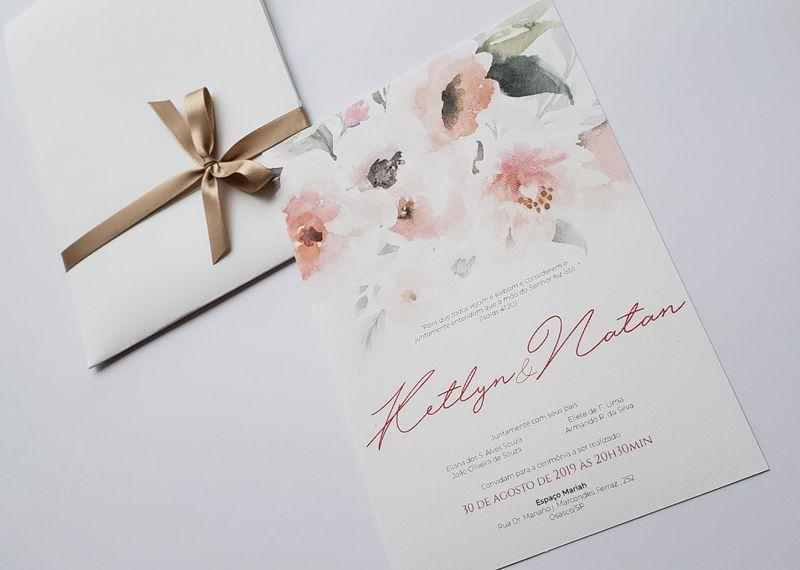 Convite Ketlyn e Natan