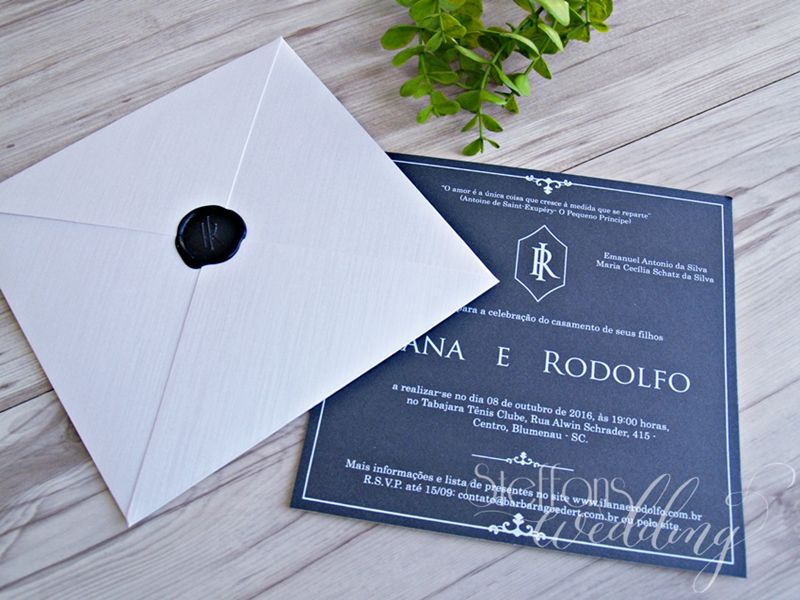 Convite Lana e Rodolfo
