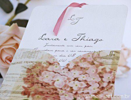 Convite Lara e Thiago
