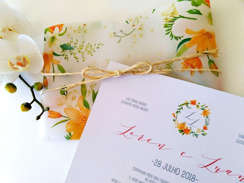Convite Laren e Luan