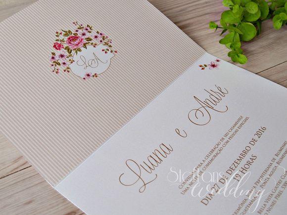 Convite Luana e André