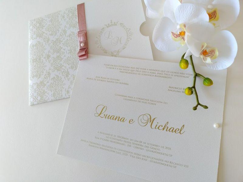 Convite Luana e Michael