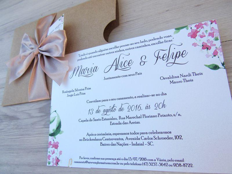 Convite Maria Alice e Felipe