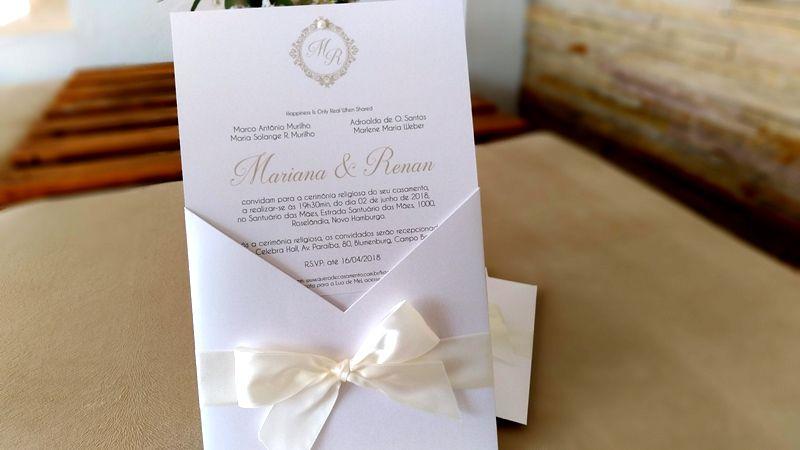 Convite Mariana e Renan