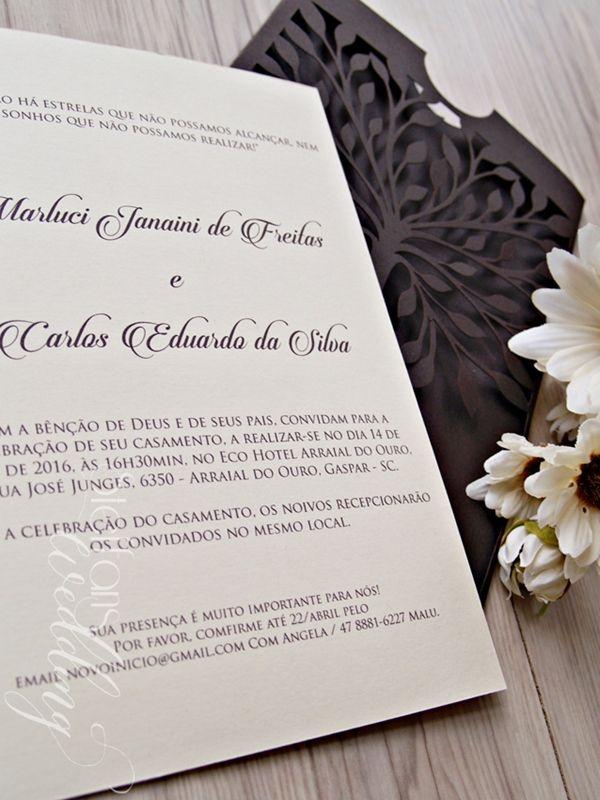 Convite Marluci e Carlos