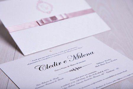 Convite Milena e Cledir