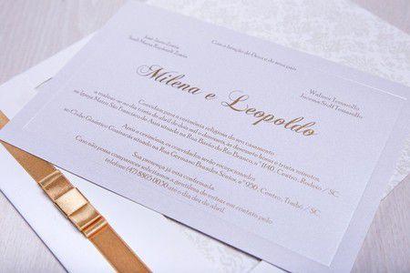 Convite Milena e Leopoldo
