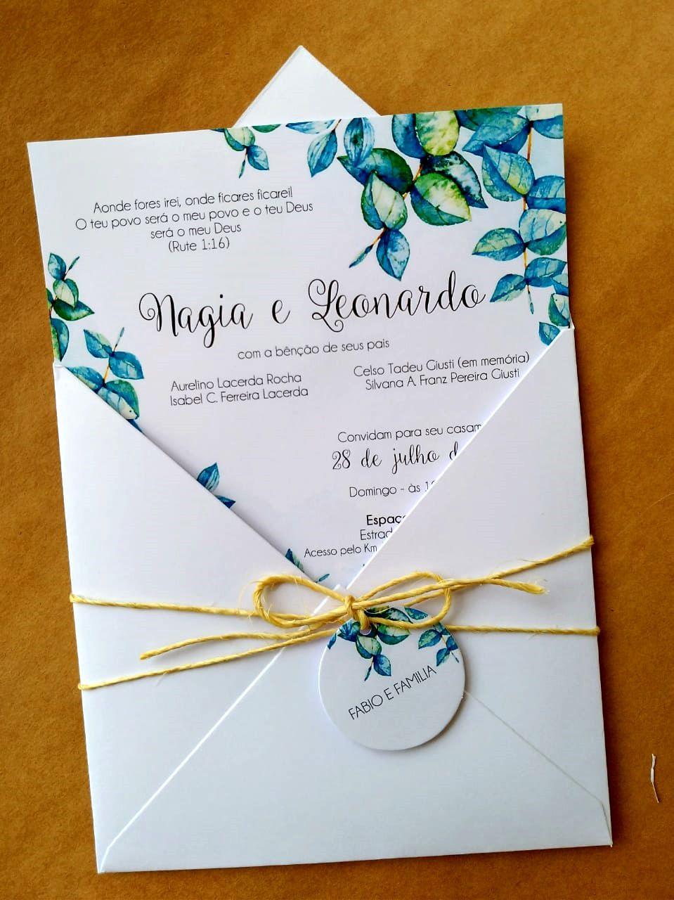 Convite Nagia e Leonardo