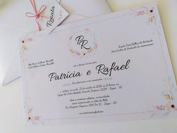 Convite Patricia e Rafael