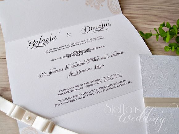 Convite Rafaela e Douglas