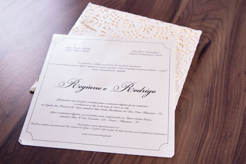 Convite Regiane e Rodrigo