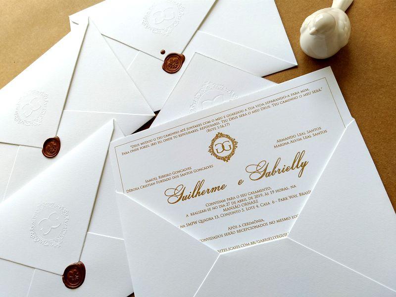 Convite Guilherme e Gabrielly