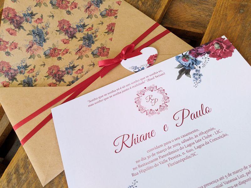 Convite Rhiane e Paulo