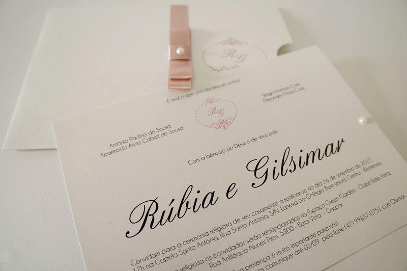 Convite Rúbia e Gilsimar