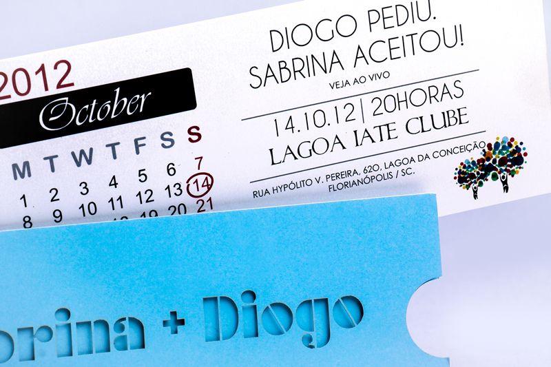 Convite Sabrina e Diogo