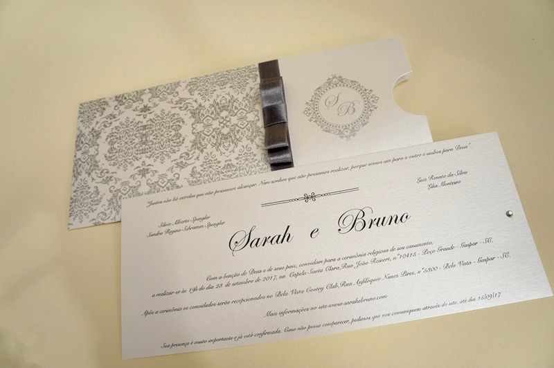 Convite Sarah e Bruno