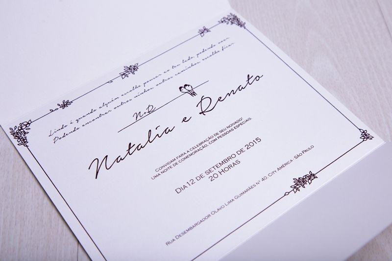 Convite Natalia e Renato