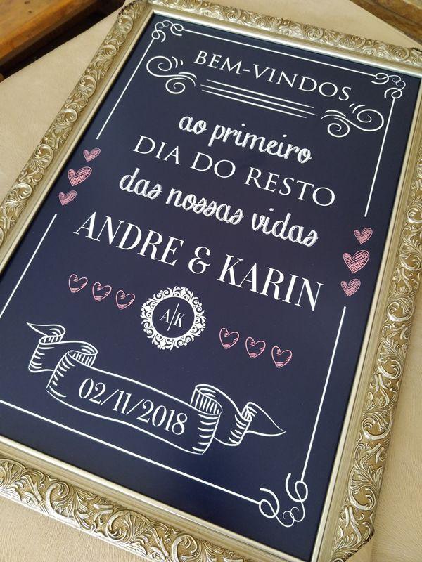 Quadro Andre e Karin