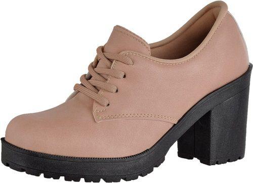 3b1d0ceea Bota Oxford Verniz Salto Alto Grosso Tratorado - Ousy Shoes