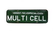 Placa Comercial Verde / Branco