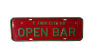 Placa Decorativa Vermelho / Verde