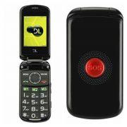 Celular de Flip DL YC130 Gsm dual chip botão SOS rádio camera