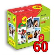 Kit Filme 60 poses fotos Instax Mini FujiFilm 54 x 86mm