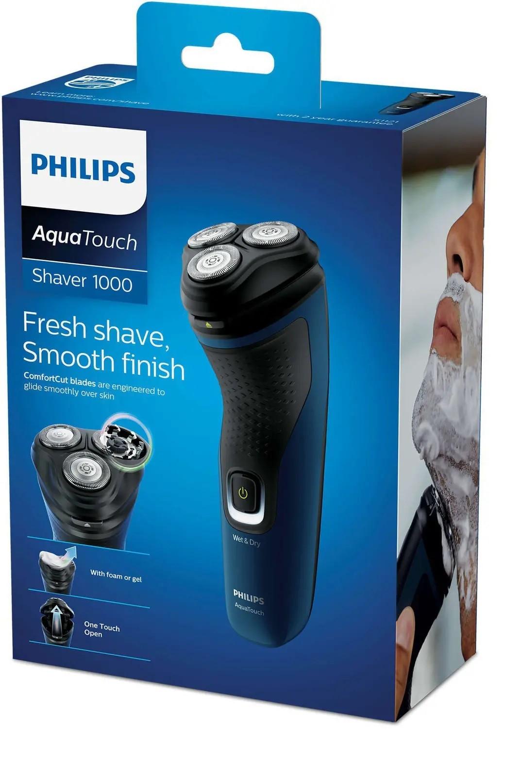 Barbeador Philips Shaver 1000 Aqua Touch S1121/41 Bivolt