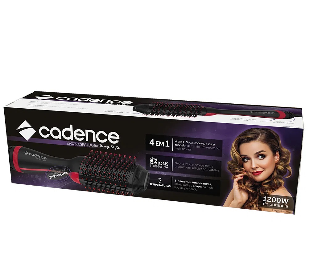 Escova Secadora Cadence Rouge Esc700 220V 1200w