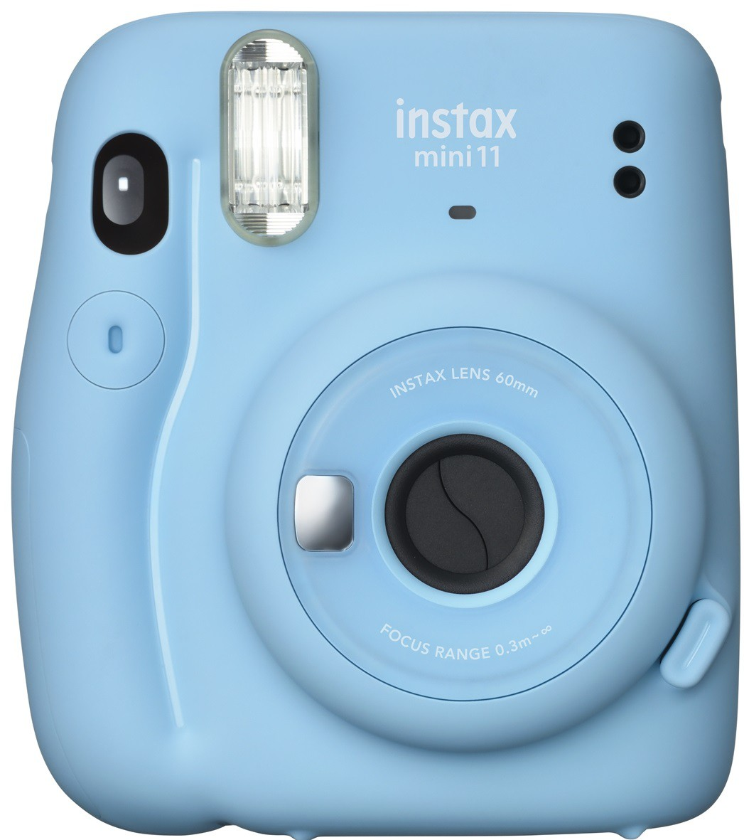 Kit Câmera Fujifilm Instax Mini 11 Azul + Kit 20 fotos
