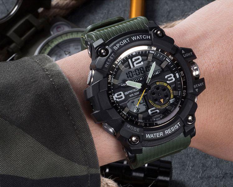 e37cec374 ... Relógio Masculino Sanda Militar Esporte Analógio e Digital - J D  e-commerce
