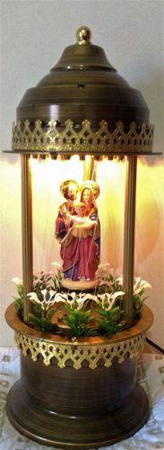 Abajur Cúpula Fonte de Óleo Sagrada Família  - Ruah Artigos Católicos