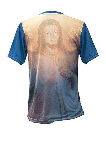 Camiseta Imaculada Conceição e Jesus Misericordioso  - Ruah Artigos Católicos