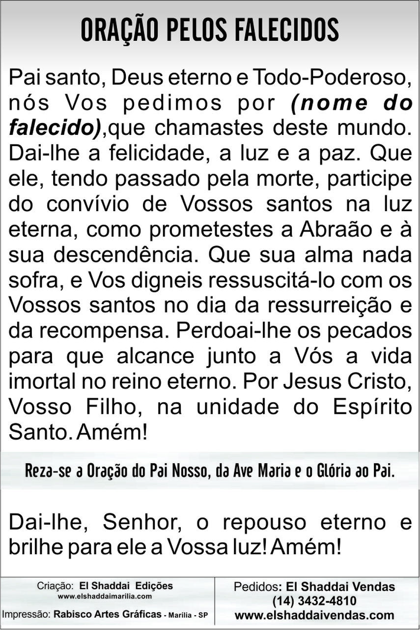 Santinhos de Falecimento - Milheiro  - Ruah Artigos Católicos