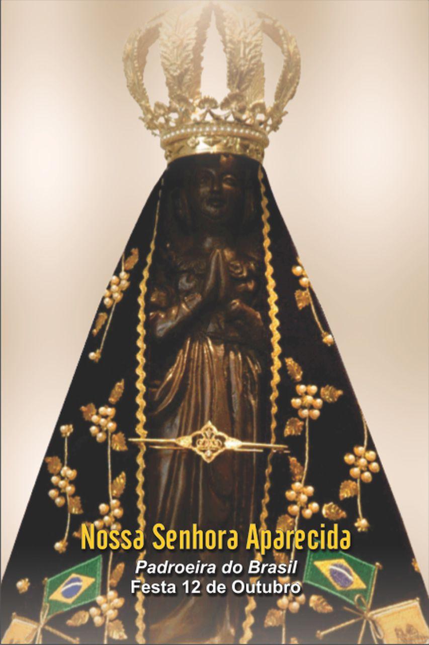 Santinhos de Nossa Senhora Aparecida - Milheiro  - Ruah Artigos Católicos