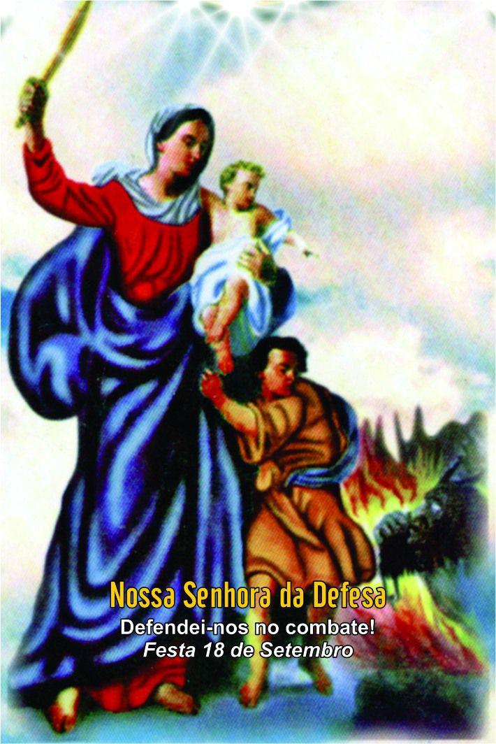 Santinhos de Nossa Senhora da Defesa - Milheiro  - Ruah Artigos Católicos