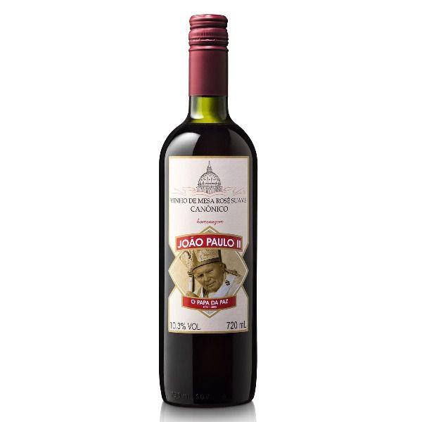 Vinho Canônico Rosê Suave João Paulo II - Caixa com 12 Unidades  - Ruah Artigos Católicos
